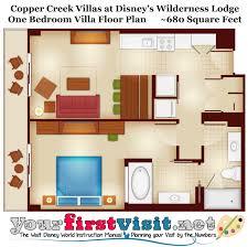 villas at wilderness lodge floor plan copper creek point chart dvc