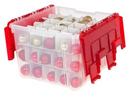 Christmas Ornament Storage Amazon by Amazon Com Iris Wing Lid Storage Box With Ornament Divider Red