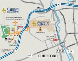 map to how to get here surrey research park