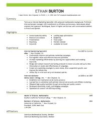 Job Resume Examples 2014 by Marketing Marketing Resume Example
