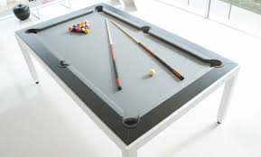 Convertible Pool Table contemporary pool table convertible dining tables white powder