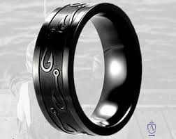 black titanium rings black titanium ring etsy