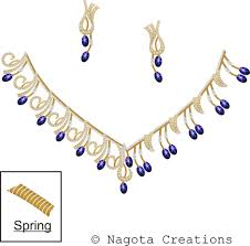 sapphire necklace yellow gold images Spring necklace set with star blue sapphire diamonds in yellow jpg
