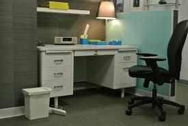 vintage steel double pedestal desk