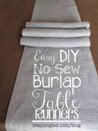 make your own table runner bespangled jewelry diy no sew burlap table runners diy wedding