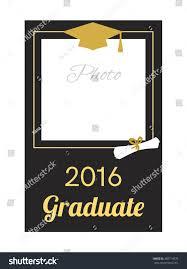 Sample Invitation Card For Graduation Ceremony Student 2016 Graduation Photo Frame Greeting Stock Vector