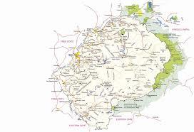 map in road visitlesotho travel detailed road map