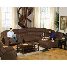 reclining sectional 6 pc rsf chaise armless chair u0026 recliner lsf