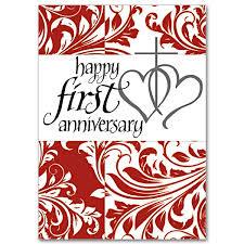 happy anniversary 1st wedding anniversary card