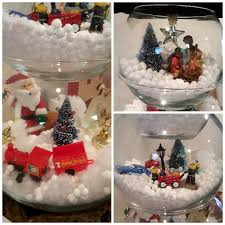 Christmas Decorations Lights In A Bowl by Fish Bowl Snowman Craft Crafty Morning