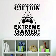 stickers pour chambre d enfant extrême prudence gamer jeu machine wall sticker pour chambre d
