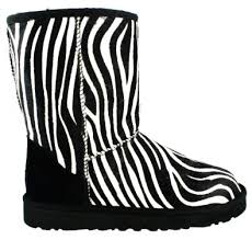 zebra print ugg boots can never enough shoes