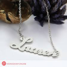 personalized script necklace script silver name necklace