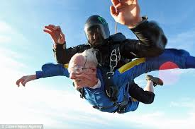 grandfather glenn quillin marks his 100th birthday with a skydive