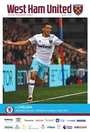 West Ham Duvet Cover Official Match Day Programme West Ham Take On Chelsea In This