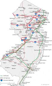 map of and map of jersey cities jersey road map