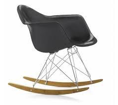 chaise bascule eames vitra rar fauteuil à bascule eames plastic armchair basalte