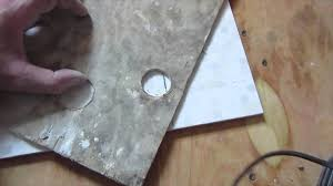 Drilling Into Bathroom Tiles How To Drill A Hole With A Core Bit In Ceramic Tile Porcelain