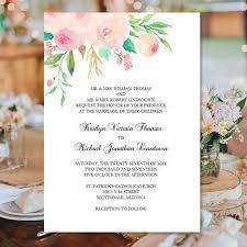 printable wedding invitation printable wedding invitation template watercolor floral 3