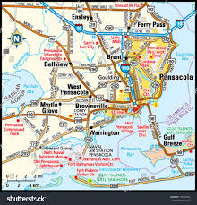 Map Pensacola Florida by Pensacola Florida Area Map Stock Vector 139162844 Shutterstock