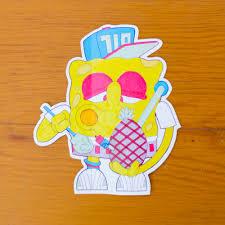 spongebob dabpants dab sticker dab slap zoom