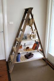decorating inspiring ladder bookshelf for simple furniture ideas