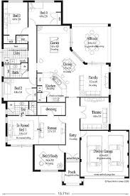 single story 5 bedroom house plans 5 bedroom house plans single story perth archives new home plans
