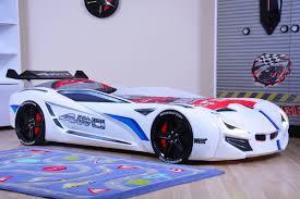 sia modern design kids race twin car bed with euro mattress