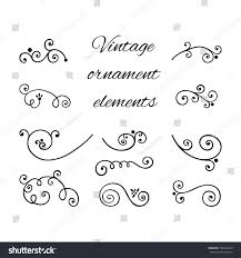 swirly ornaments vector scroll decorative stock vector