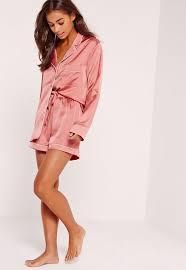 pink piping detail pajama set missguided