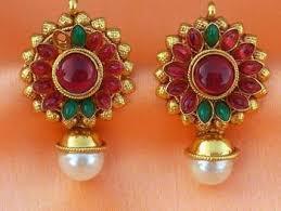 kempu earrings buy lovely kempu earrings online