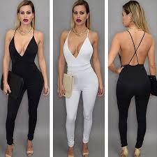 white jumpsuits and rompers for black v neck jumpsuits rompers white