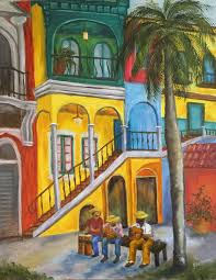 cuba libre oil painting of old havana by judy batterson florida artist