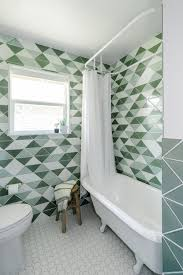 before after green tiled bathroom conversion remodelista bathroom remodel with fireclay tile remodelista