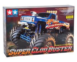 super clod buster 4wd monster truck kit tamiya review remote