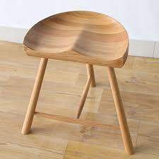 white oak wood saddle stool in stools u0026 ottomans from furniture on