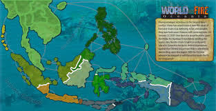 Oceania Map World On Fire Oceania Map