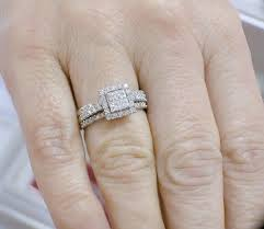 Inexpensive Wedding Rings by Inexpensive Wedding Trio Ring Set For Her With 1 Carat Diamond