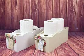 shabby chic wooden toiletries toilet paper rack holder bathroom