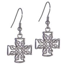 nickel free earrings free earrings stainless steel celtic cross