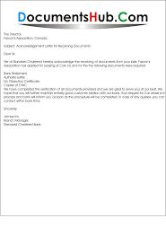Certification Letter Of Endorsement Sample Acknowledgement Letter For Receiving Documents
