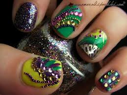 119 best mardi gras nail images on nail ideas
