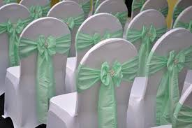 mint green chair sashes wedding party and event decoration specialists