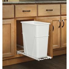 garbage can under the sink pull out built in trash cans cabinet slide under sink within kitchen