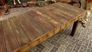 build a recycled wood table video diy