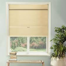 Roman Shade Homebasics Natural Linen Look Thermal Blackout Fabric Roman Shade