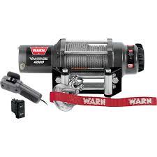 warn vantage 4000 series 12 volt dc powered electric atv winch