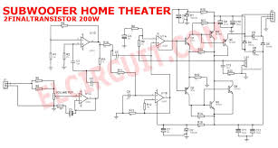 home theater amplifier subwoofer home theater amplifier circuit is designed for subwoofer