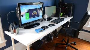 ultimate gaming desk setup modern video game desk pertaining to gaming setup 2013 room
