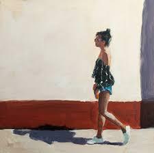 My Cool John K Harrell Fine Art Too Cool For My Shadow Acrylic 6 X 6 By